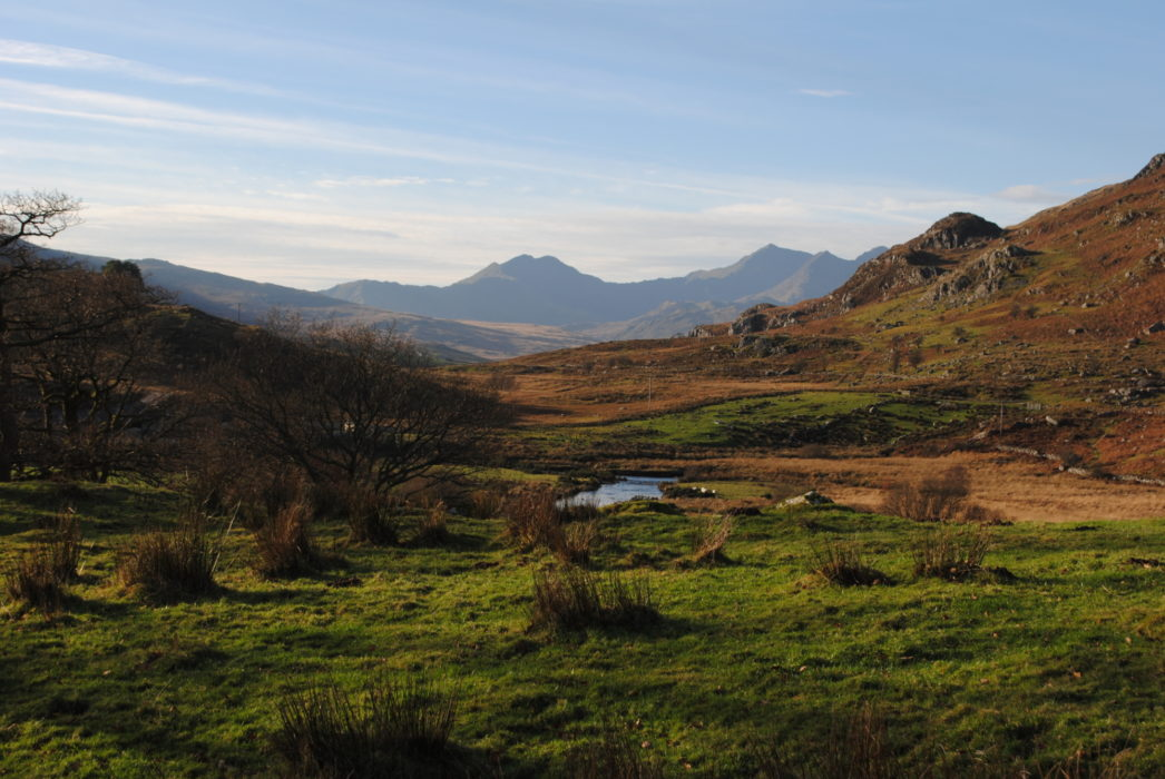 Snowdon And Y Lliwedd From Capel Curig With The Bwlch Y Saethau Between Them