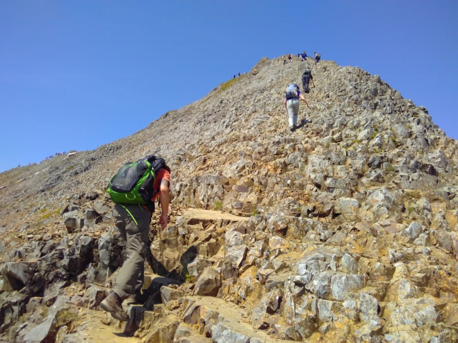 Scrambling The East Ridge Of Crib Goch