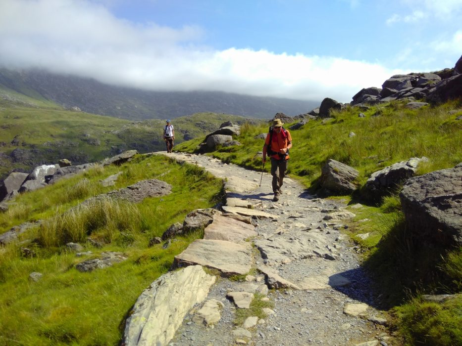 Walking Along The Start Of The Pyg Track