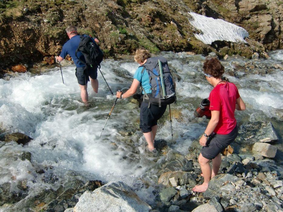 Splashing through the Süserbach