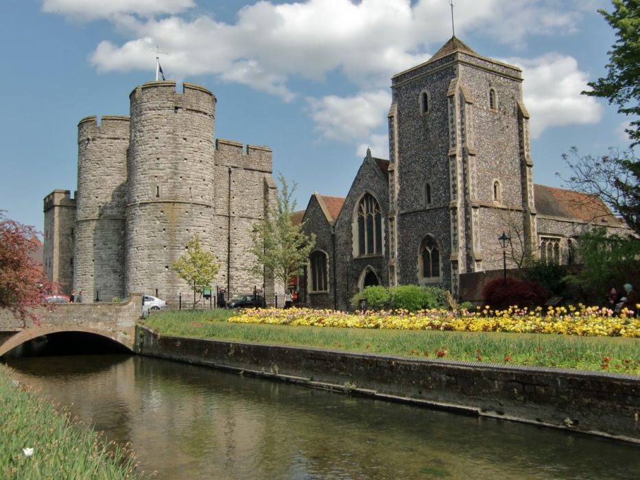 The 14th century Westgate at Canterbury