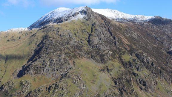 Looking Across To Esgair Felen From Llechog Buttress