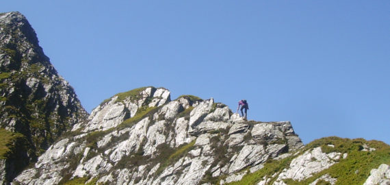 Approaching The Notch On The Infamous Yr Esgair Foel Goch