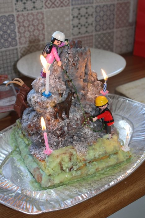 The Fifth Birthday Tryfan Cake With Cadbury Fingers Adam And Eve 2