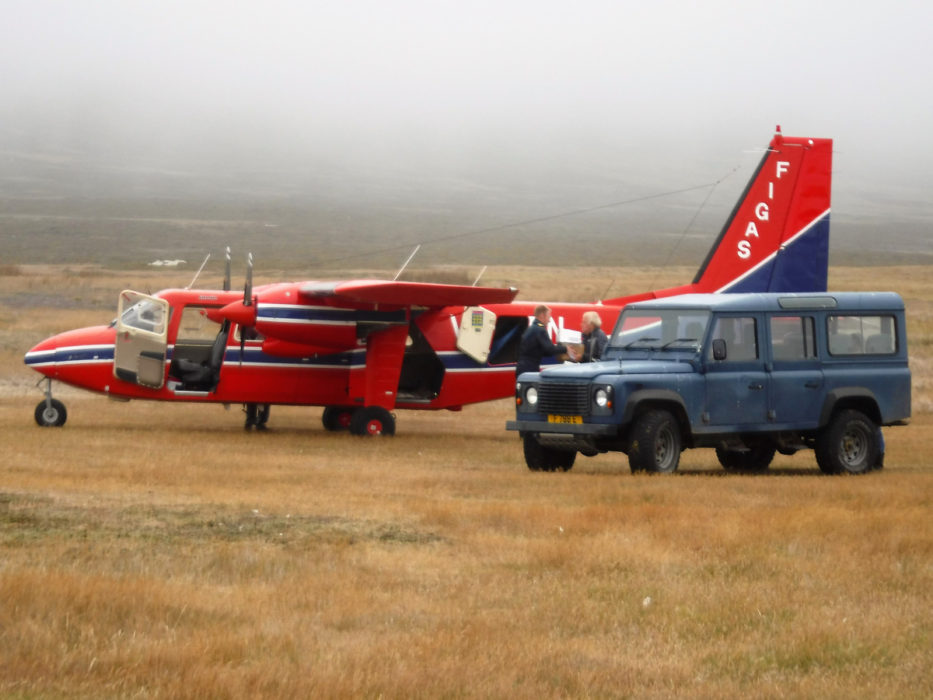 Figas Plane On Carcass Island