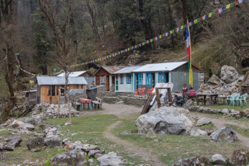 Simple Lodges Rebuilt After The 2015 Earthquake  Langtang National Park  Spring 2017