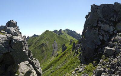 View Towards The Rocky Spires Of The Puy De Sancy Summit