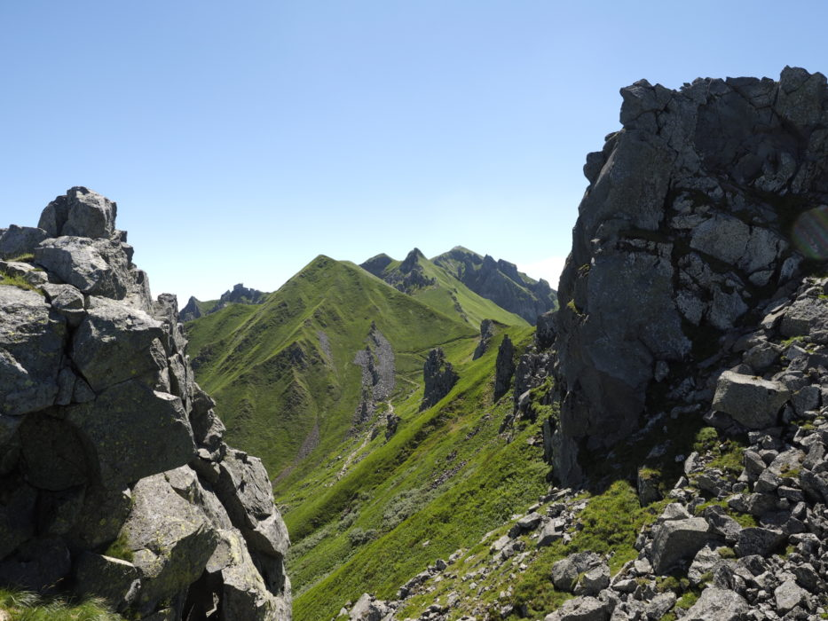 View Towards The Rocky Spires Of The Puy De Sancy Summit