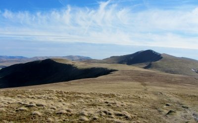 02 Bannerdale Crags And Blencathra From Bowscale Fell