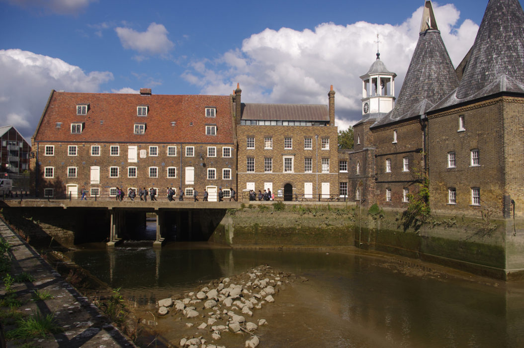 Three Mills At The Tidal Limit Of The River Lea