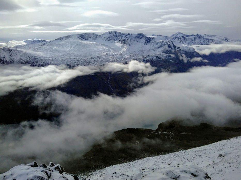 Hogdebrotet And Neighboring Peaks From Besshoe