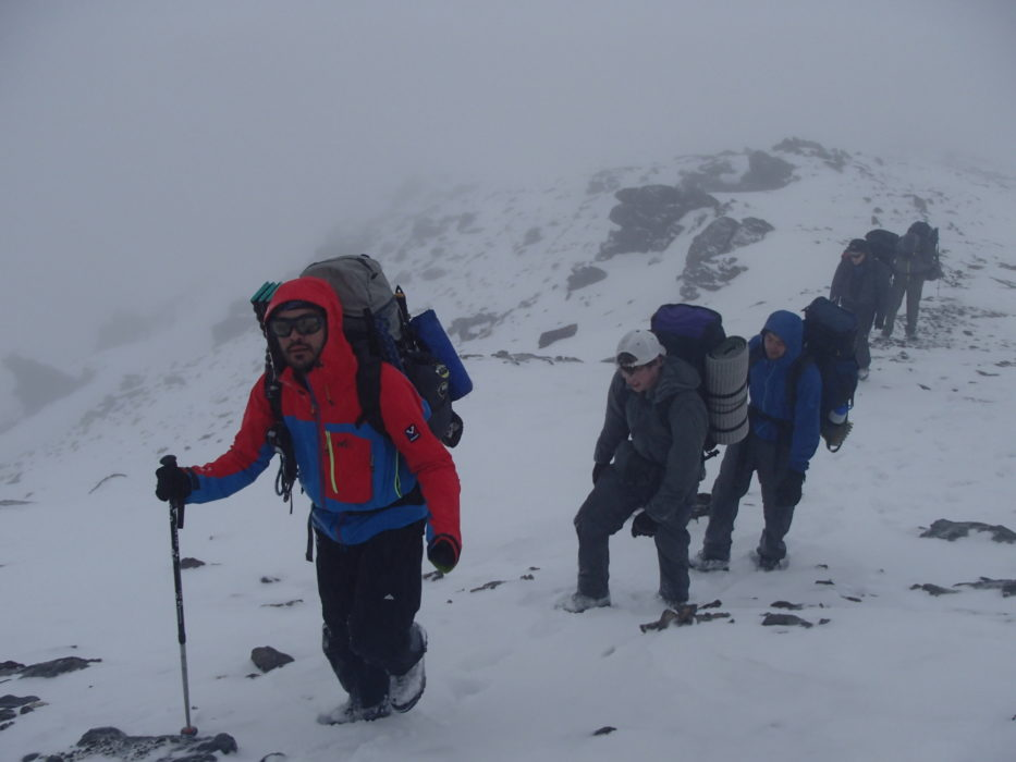 1 Ascending To Los Posiciones In Deteriorating Weather