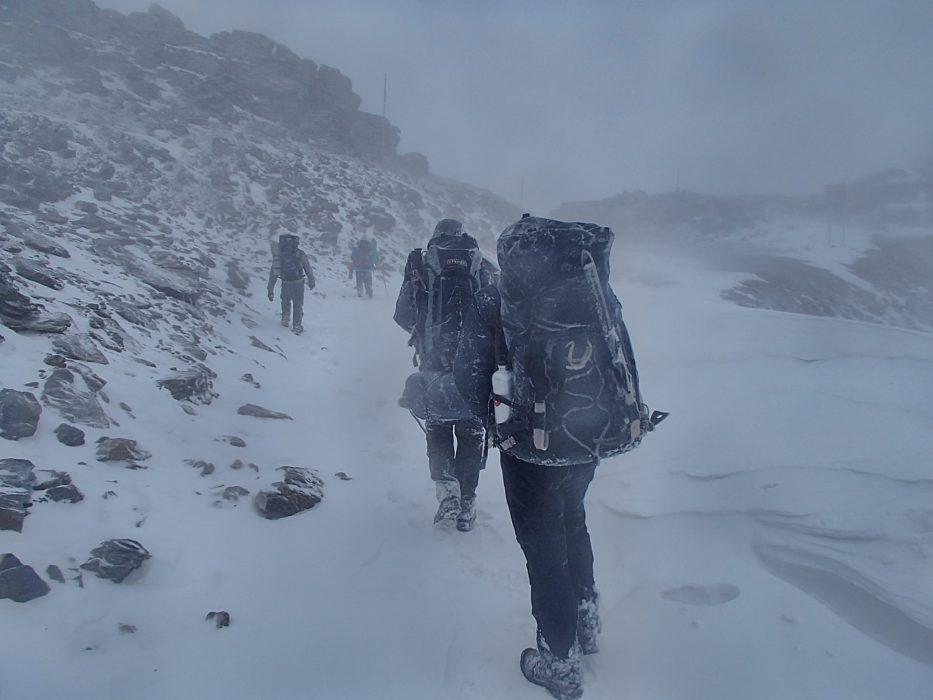 3 Blizzard Conditions Nearing The Col De Carihuela