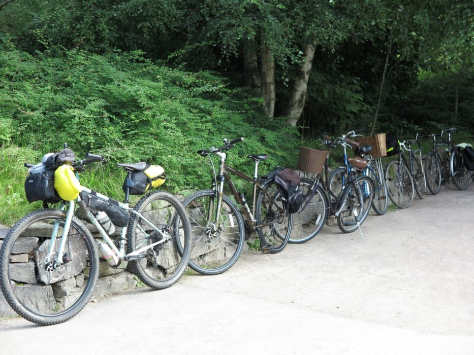 A row of bikes ready to go
