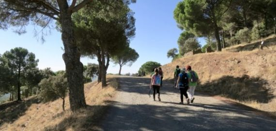 Enjoying the sunshine, as well as the walking, in Extremadura