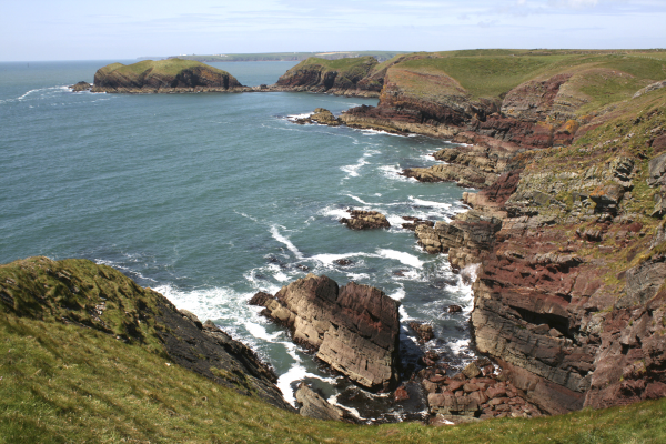 Walking the Pembrokeshire Coast Path with a Cicerone guidebook