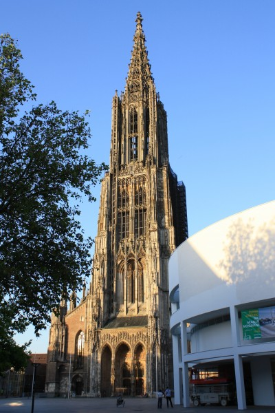 The 161.5m high spire of Ulm münster is the world's tallest church spire.