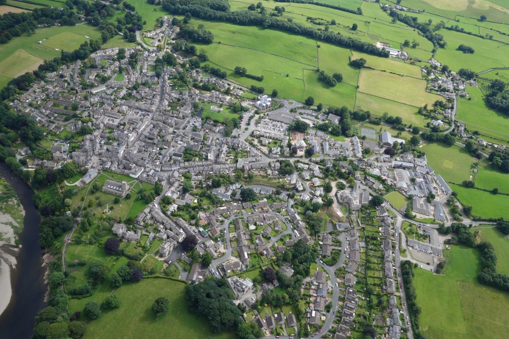 Flying over Kirkby Lonsdale