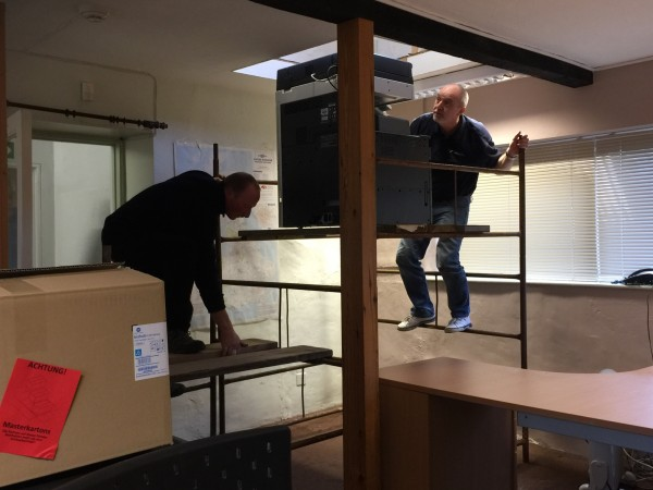 The photocopier goes up!