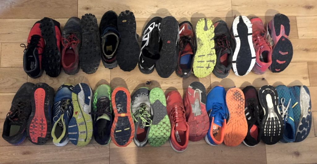 Shoes for fell running, trail running and road running - Do I have too many running shoes?