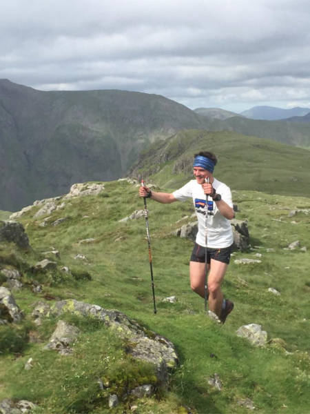 Joe on Leg 4 of the Bob Graham Round