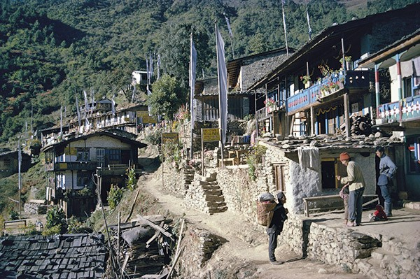 Syabru village, gateway to the Langtang valley